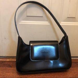 GUCCI Authentic Black Patent Leather Shoulder Bag